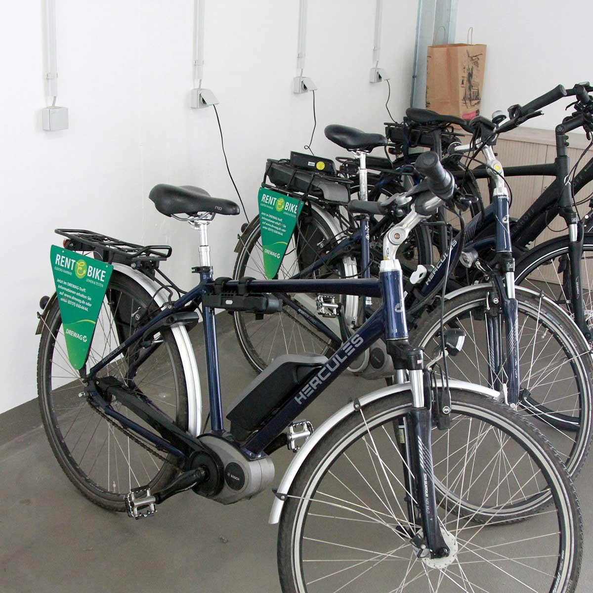 E-Bikes im Fuhrpark von ENSO und DREWAG