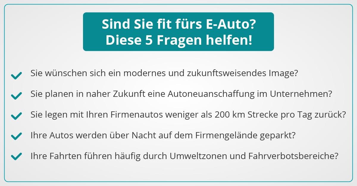 5 Fragen zum E-Auto