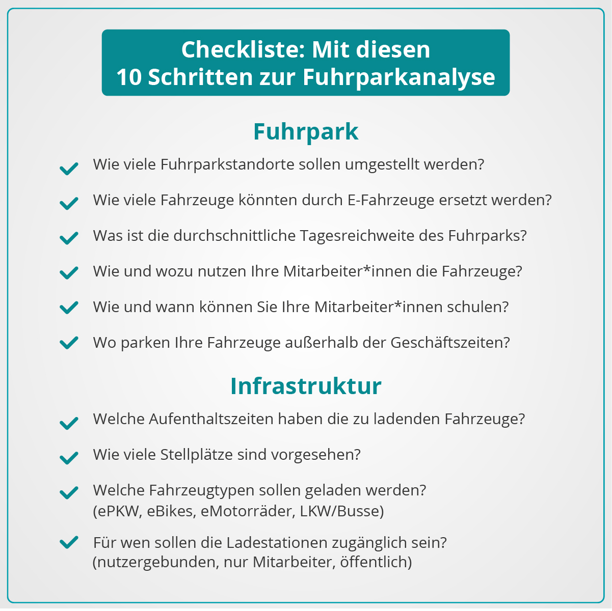 Checkliste Fuhrparkanalyse - umschalten.de