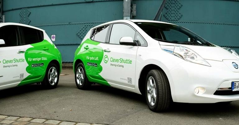 Clevershuttle Elektroautos - umschalten